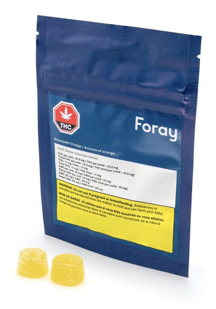 Foray Pineapple Orange 5mg Soft Chews Edibles