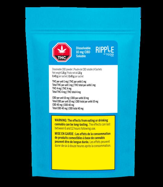 Ripple by TGOD Dissolvable CBD Powder